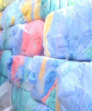 www.wipersupply.com - bales of wiping cloth raw materials
