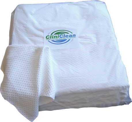 Cliniclean Precision Wiping Cloths are critical Clean Room towels, Certified Class 10 for CleanRoom Use. All edges are sealed with Ultrasonic laser for ULTRA LOW levels of particles, ions and extractables. Use where all critical environments demand a precision cloth. Available from Wiper Supply Services - www.wipersupply.com